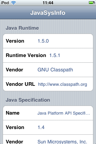 JavaSysInfo - another sample GUI Java application