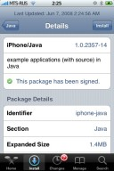Select IPhone/Java