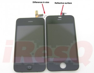 iPhone 3G is on left and 4G is on the right