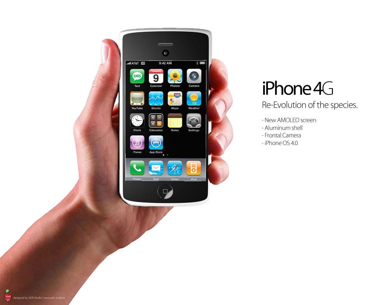 Nice 3D сoncept Of Future IPhone 4G