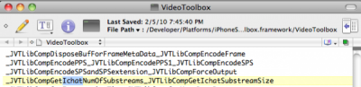 iChat mentioned in code