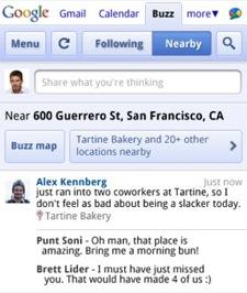 Google Buzz web app