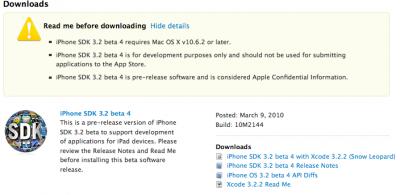 iPhone OS 3.2 SDK