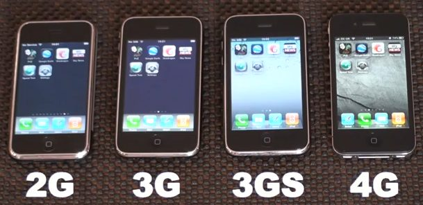 Here Is An Interesting Video Demonstrating IPhone Speed Test Across All Four Generations Of The Smartphone 2G 3G 3GS And