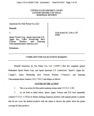 lawsuit-FalseMArking
