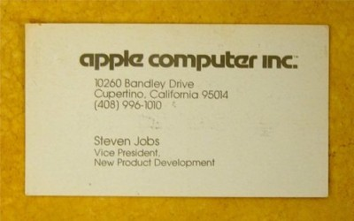 Just For Fun How Does Steve Jobs Business Card From 1979 Look Like