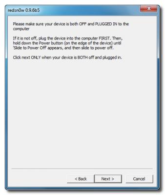 Пошаговое руководство: джейлбрейк и анлок iPhone 3G с помощью RedSn0w 0.9.6b5 (Windows) [iOS 4.2.1] (redsn0w 096b5 13 338x400)