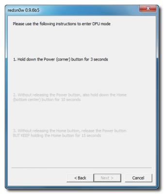 Пошаговое руководство: джейлбрейк и анлок iPhone 3G с помощью RedSn0w 0.9.6b5 (Windows) [iOS 4.2.1] (redsn0w 096b5 14 338x400)