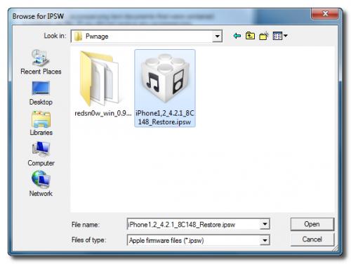 Пошаговое руководство: джейлбрейк и анлок iPhone 3G с помощью RedSn0w 0.9.6b5 (Windows) [iOS 4.2.1] (redsn0w 096b5 7 500x376)