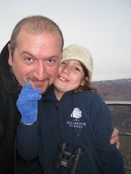 Olivier Sanche With His Daughter Emilie