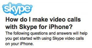 skype video calling