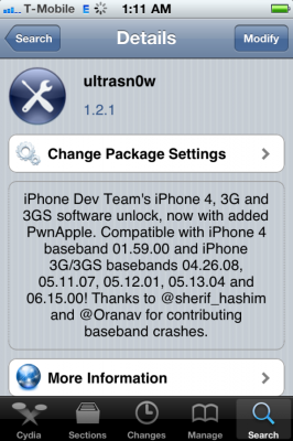 ultrasn0w 121 266x400 UltraSn0w 1.2.1 released: supports iPhone iOS 4.3.1