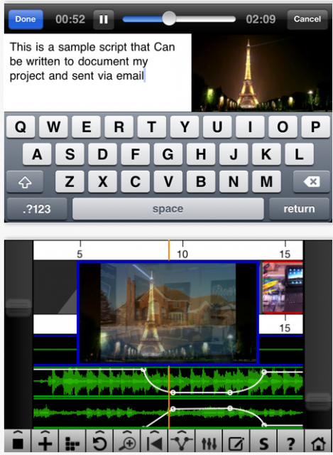 how to cut audio from video iphone