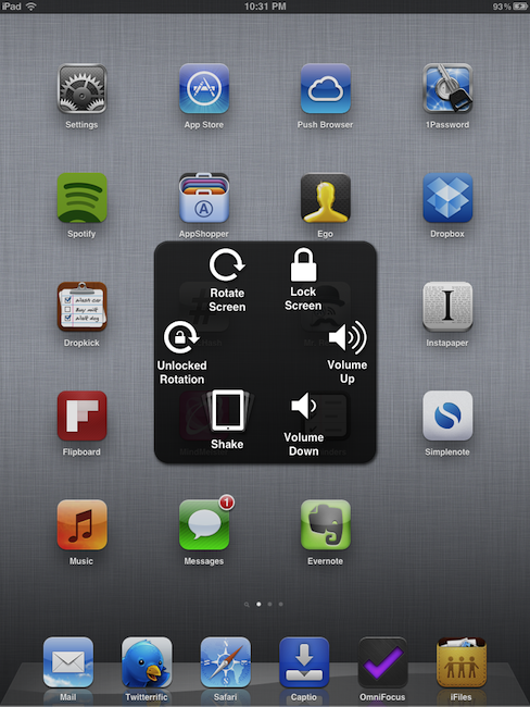 iOS 5 features gesture-based control panel that replaces