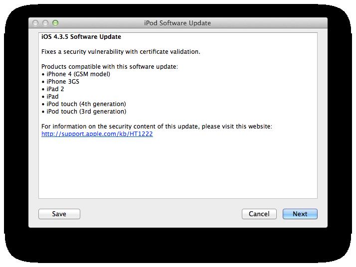 ios 4.2 software update ipad