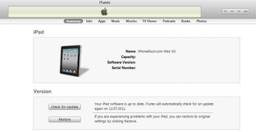 Step by step Tutorial: How to Untether Jailbreak iPad 1 and iPad 2 Using JailbreakMe [iOS 4.3.3] (itunes ipad 500x257)