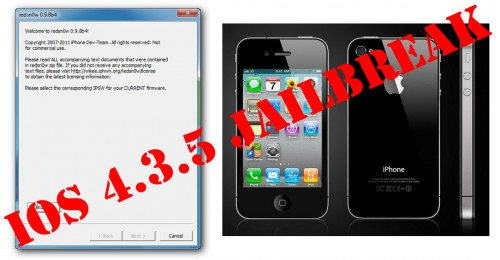 redsn0w ios435 jailbreak iphone4 500x260 Untethered 4.3.5 Jailbreak Sn0wbreeze IOS