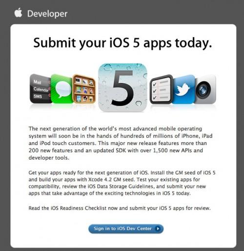 ios5 apps