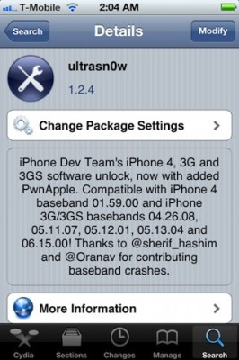 ultrasn0w 124 266x400 DevTeam releases ultrasn0w unlock for iOS 5