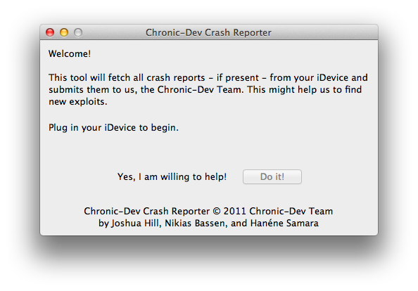 crash reporter Want untethered iOS 5 jailbreak? Help hackers to find new exploits!