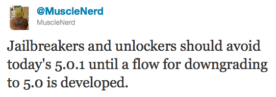 noupdate501 Jailbreakers and unlockers: dont update to iOS 5.0.1