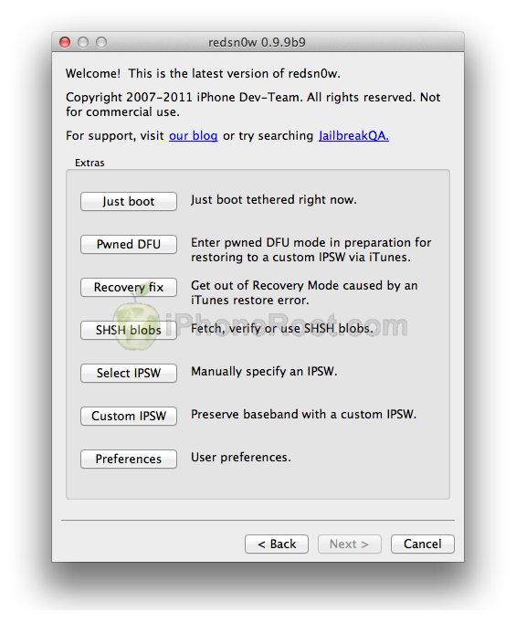 redsn0w 099b9 2 RedSn0w 0.9.9b9b released: now fully supports iOS 5.0.1 and SHSH/APTickets