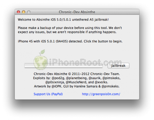 absinthe 500x390 Jailbreak for iPhone 4S and iPad 2 Has Been Released