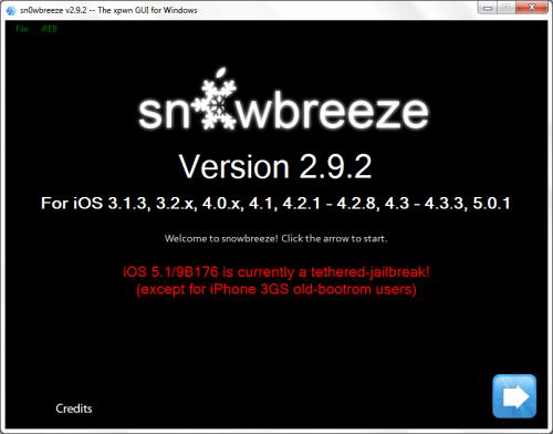 snowbreeze 292 500x392 Sn0wBreeze 2.9.2: кастом прошивка и привязанный джейлбрейк iOS 5.1