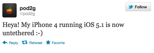 51 untetherd jailbreak Pod2g Succeeds in Untethered Jailbreak of iPhone 4 on iOS 5.1