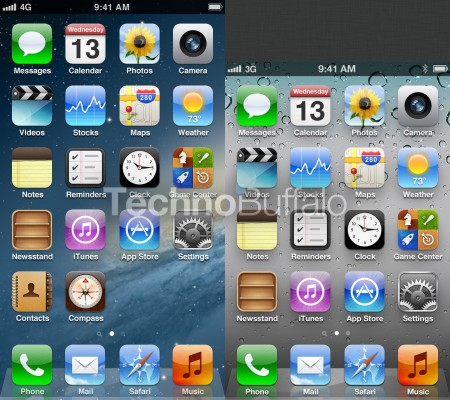 iphone-5-homescreen-compared-to-iphone-4s