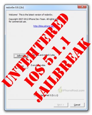 redsn0w 0912 untethered 511 320x400 Step by step Tutorial: How to Untether Jailbreak iPhone, iPad and iPod Touch Using RedSn0w 0.9.12 (Windows) [iOS 5.1.1]