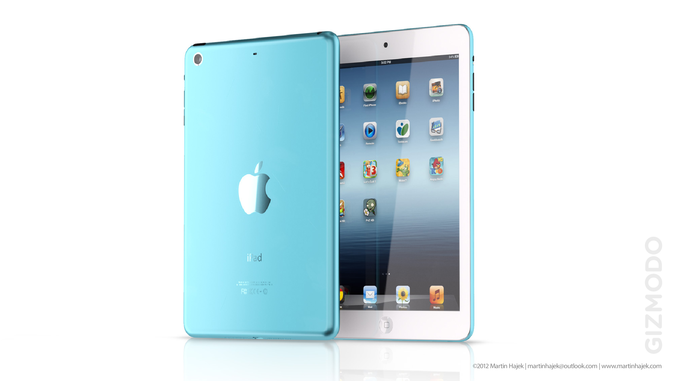 of the expected 7.85-inch iPad mini [2] for Gizmodo [3] . Take a look