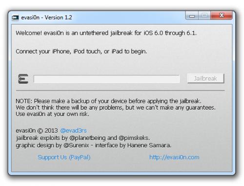 evasi0n 1 2 500x380 Update to iOS 6.1 untethered jailbreak utility released   Evasi0n 1.2