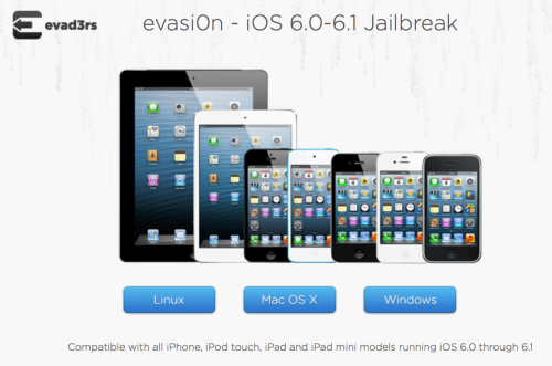 evasi0n 500x331 Update to iOS 6.1 untethered jailbreak utility released   Evasi0n 1.2
