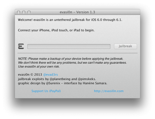 evasi0n13 500x383 Evasi0n 1.3 Released With Support for Jailbreaking iOS 6.1.1