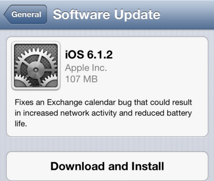 ios 6 1 2 Apple Releases iOS 6.1.2