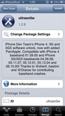 ultrasn0w iOS 61 225x400 iPhone Dev Team обновила UltraSn0w поддержкой iOS 6.1