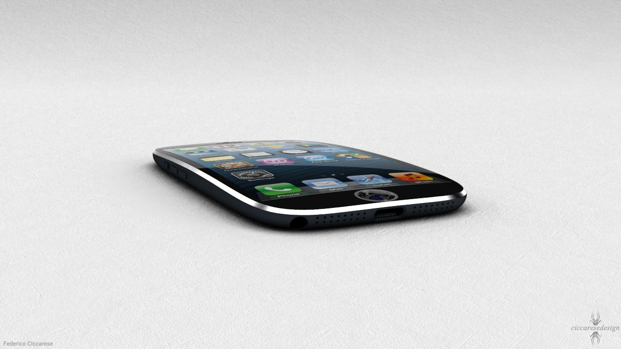 New iPhone Concept Features Curved Display, Fingerprint