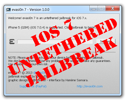 evasi0n7 windows Step by step Tutorial: How to Untether Jailbreak iPhone, iPad and iPod Touch Using Evasi0n (Windows) [iOS 7.0 7.0.6]