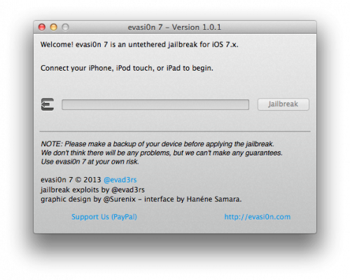 evasion7 101 500x400 Evad3rs released Evasi0n iOS 7 version 1.0.1