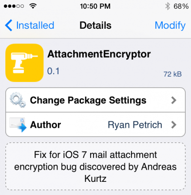 email encryption tweak 392x400 Attachment Encryptor: Fix for Email Encryption Issue