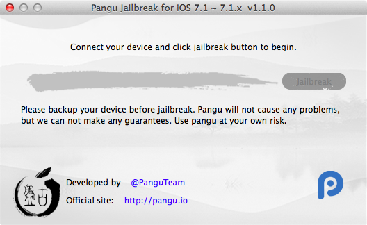 Pangu 1.1.0 Pangu v1.1.0 jailbreak is now available