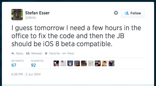 ios 8 jailbreakable 500x278 Apples New iOS 8 Is Jailbreakable?