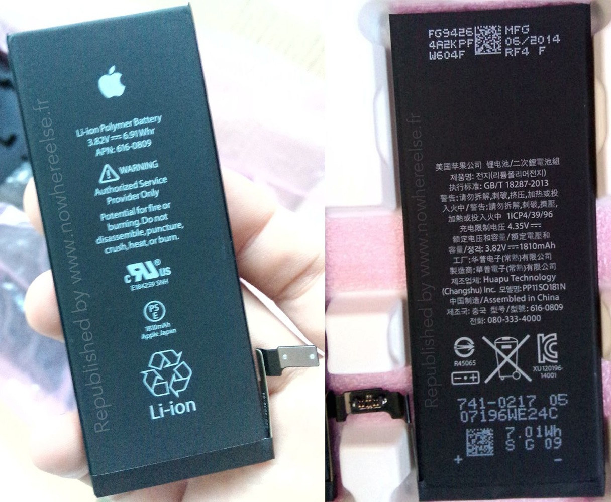есть, емкость батареи айфона 6с для своего удобства
