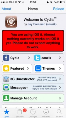 ios8 cydia 225x400 Saurik Releases iOS 8 Version of Cydia