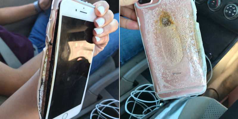 Очередной смартфон iPhone 7 Plus зажегся без видимых обстоятельств